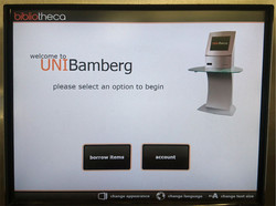 welcome page of the self-service checkout