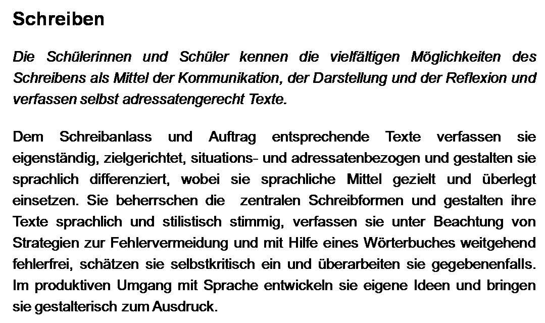 Bildungsstandards Schreiben Beispiele Otto Friedrich Universität