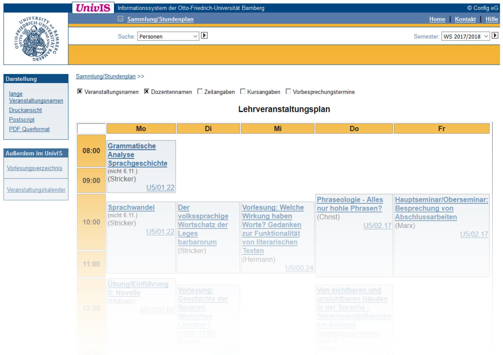 Online Stundenplan Erstellen Uni